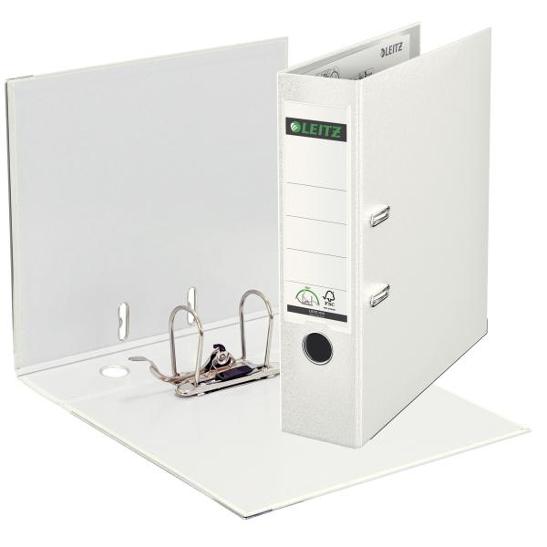 Ordner,A4,8cm,Kunststoff,weiß