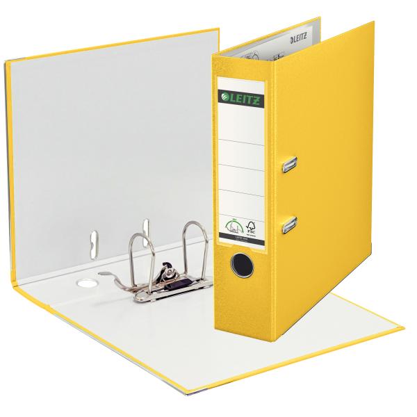 Ordner,A4,8cm,Kunststoff,gelb