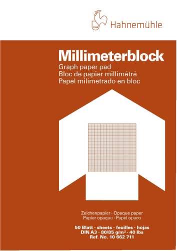 Millimeterpapier-Block,A3,80g,50 Bl.