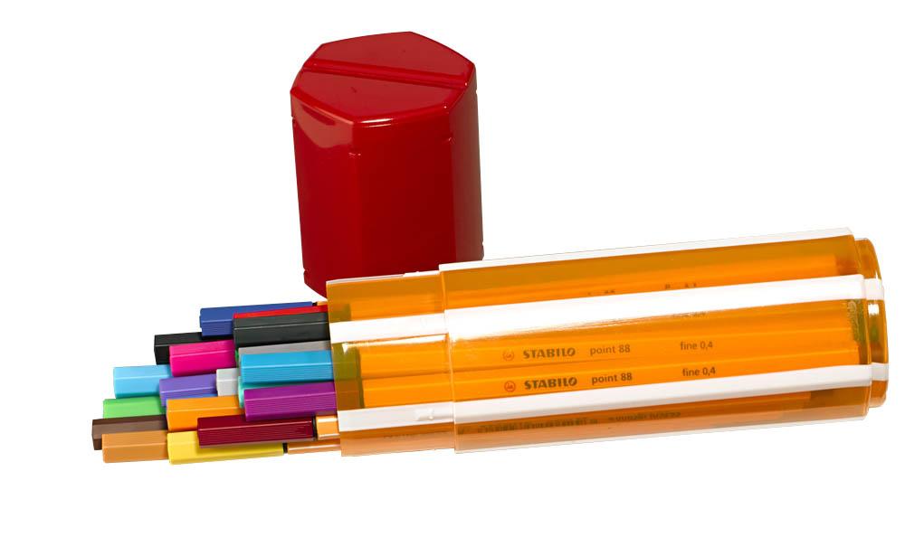 Faserschreiber,20Farben,0,4mm,Point Box