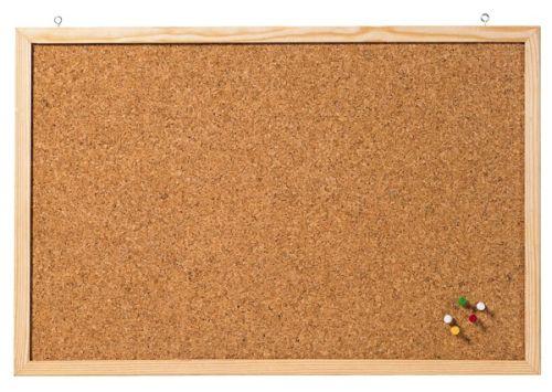Pinnwand,40x60cm,Kork,Holzrahmen