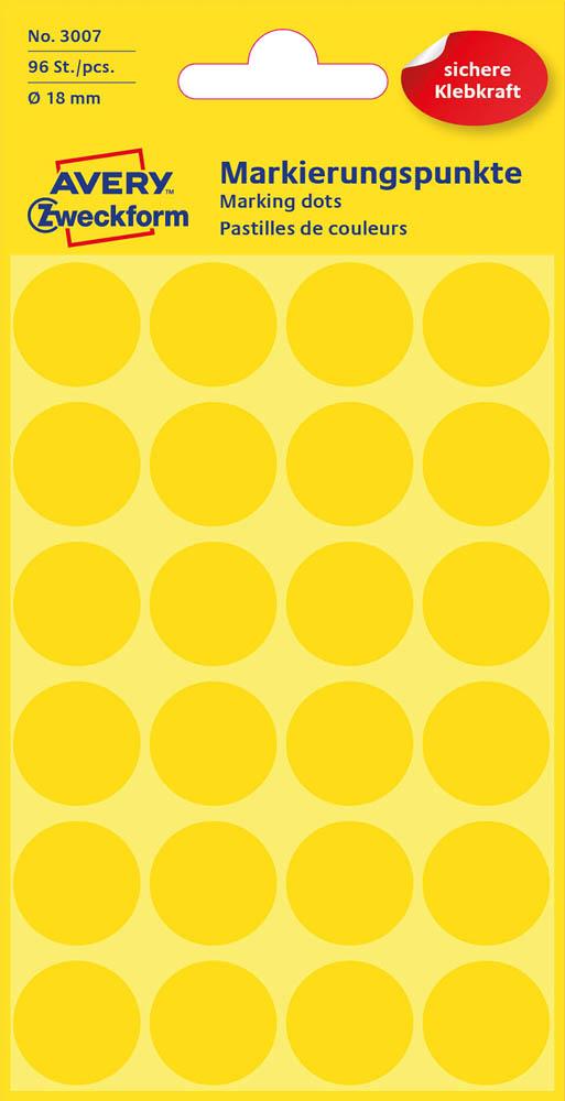 Etiketten,Punkte,18mm,96 St.,gelb