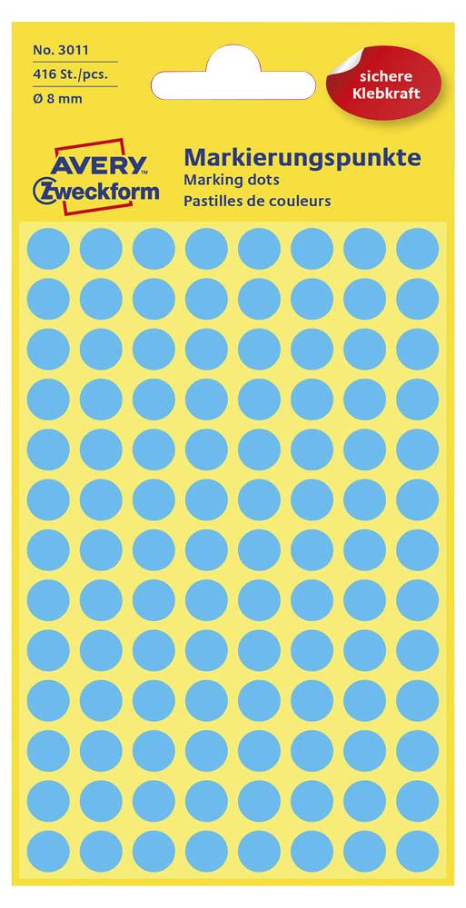 Etiketten,Punkte,8mm,416 St.,blau